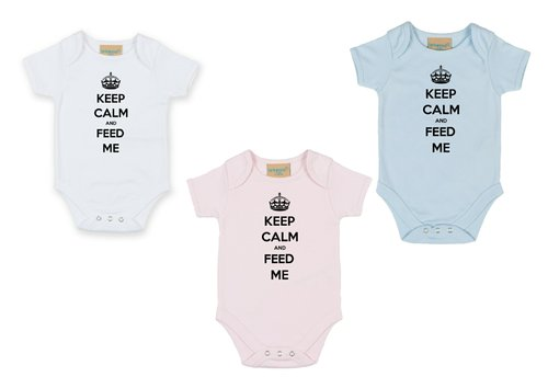 Personalised ...And Feed Me Babygrow