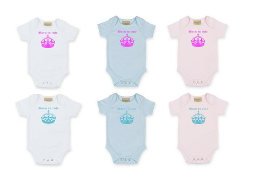 Personalised Born To Rule Babygrow