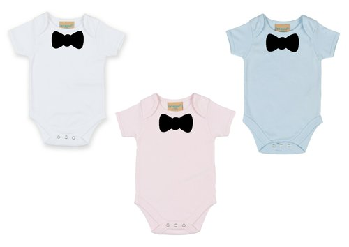 Personalised Bow Tie Babygrow