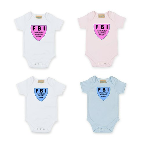 Personalised FBI Babygrow