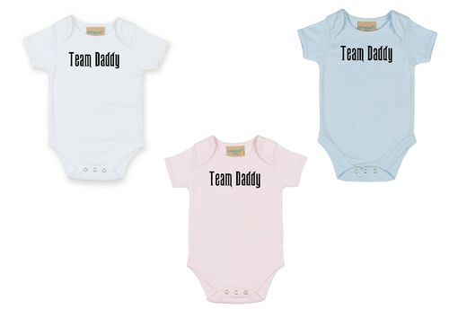 Personalised Team Daddy Babygrow