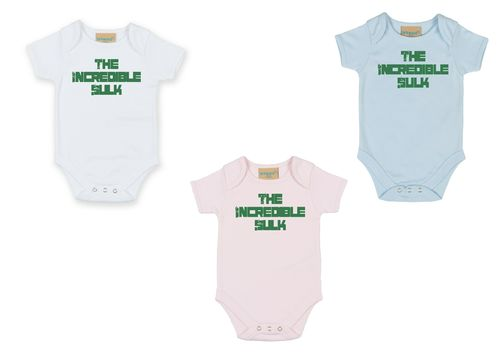 Personalised The Incredible Sulk Babygrow