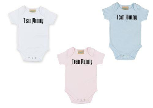 Personalised Team Mummy Babygrow