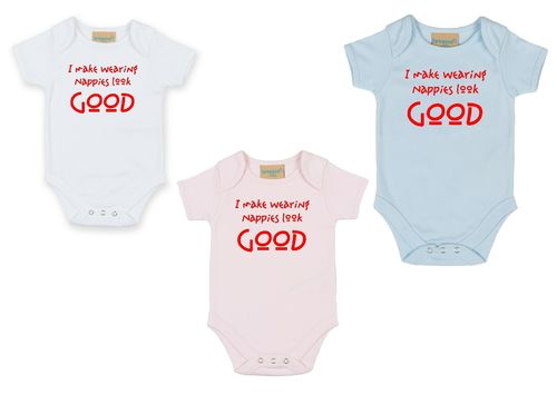 Personalised I Make Wearing Nappies Look Good Babygrow