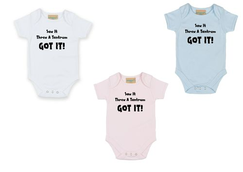 Personalised Tantrum Babygrow
