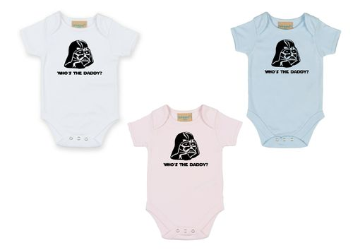 Personalised Darth Vader Who's The Daddy Babygrow