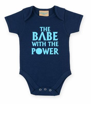 Personalised Babe With The Power Babygrow