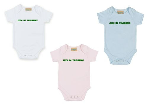 Personalised Jedi In Training Babygrow