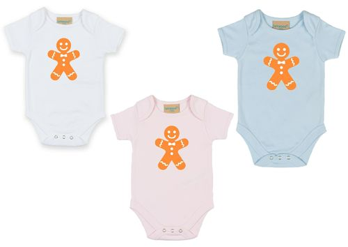 Personalised Christmas Gingerbread Man Bodysuit