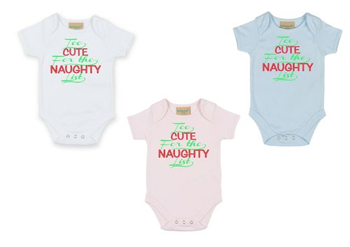 Personalised Christmas Too Cute Bodysuit