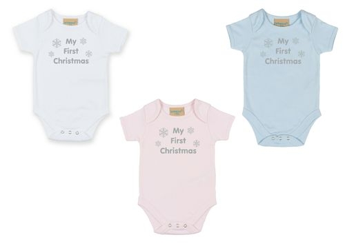 Personalised My First Christmas Bodysuit