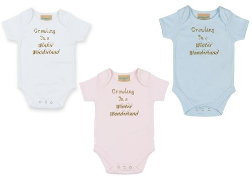 Personalised Crawling In A Winter Wonderland Bodysuit