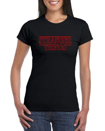 Stranger Things Logo Ladies T-shirt