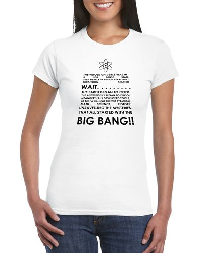 The Big Bang Theory Lyrics Ladies T-shirt