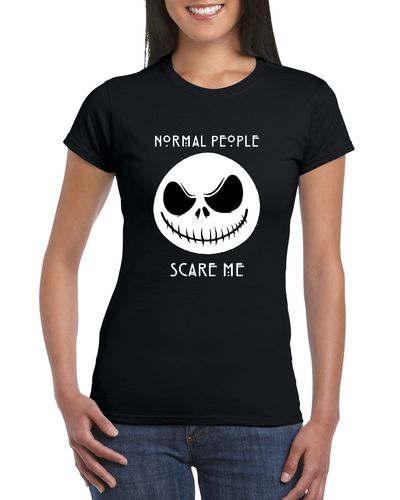 Jack Skellington Normal People Scare Me Ladies T-shirt