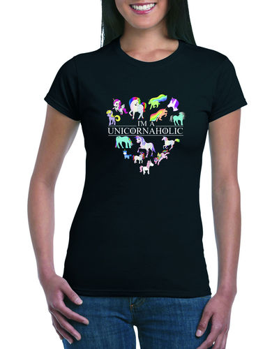 I'm A Unicornaholic Ladies T-shirt