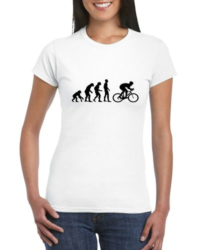Evolution Of A Cyclist Ladies T-shirt