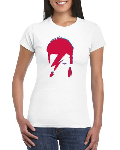 David Bowie Aladdin Sane Ladies T-shirt