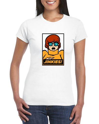 Scooby Doo Jinkies Ladies T-shirt